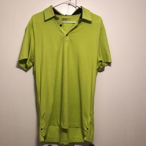 Neon green Nike golf polo